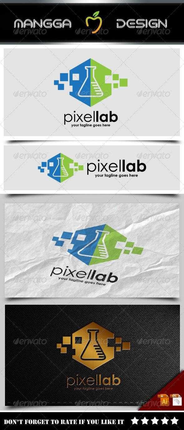 Pixel Lab Logo - Symbols Logo Templates