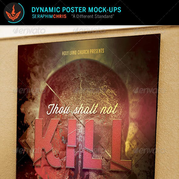 Dynamic Poster Mock Up Templates