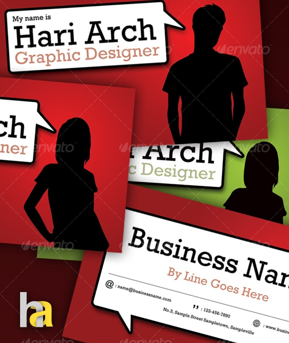 Comic Style Business Card - Creative Business Cards
