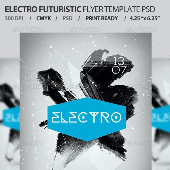 Electro Futuristic Flyer Template PSD