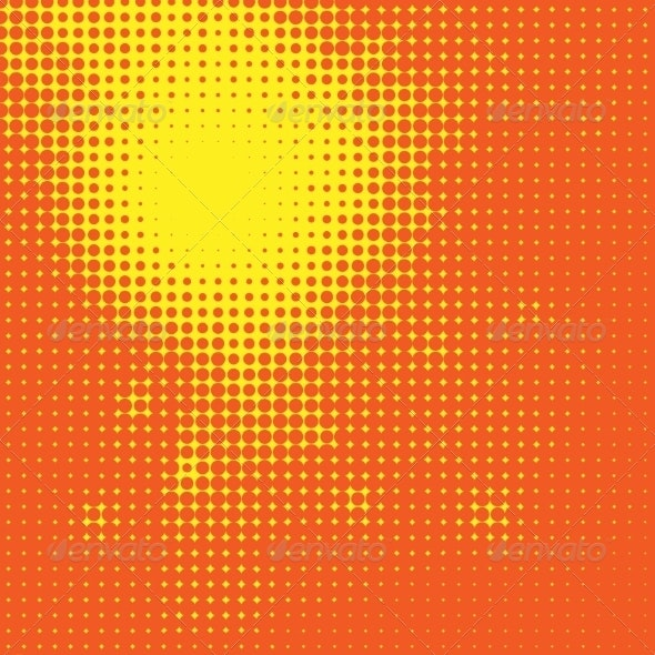 Abstract Sun Halftone Background - Backgrounds Business