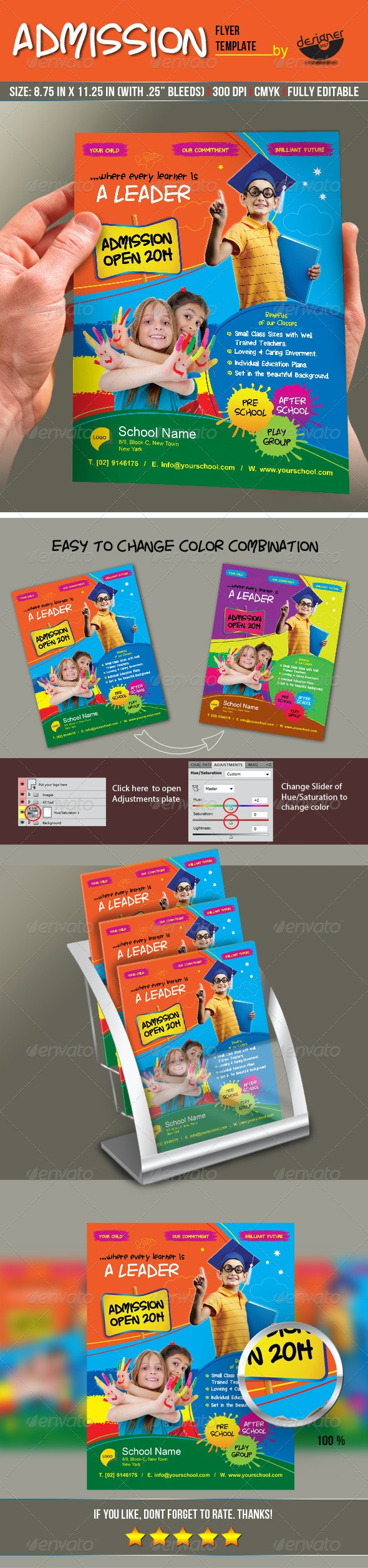 Junior School Admission Flyer Template - Corporate Flyers