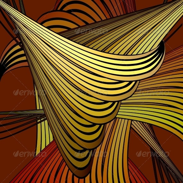 Abstract Colorful Swirl Background - Abstract Conceptual