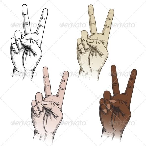 Victory Fingers Gesture Set - Miscellaneous Conceptual