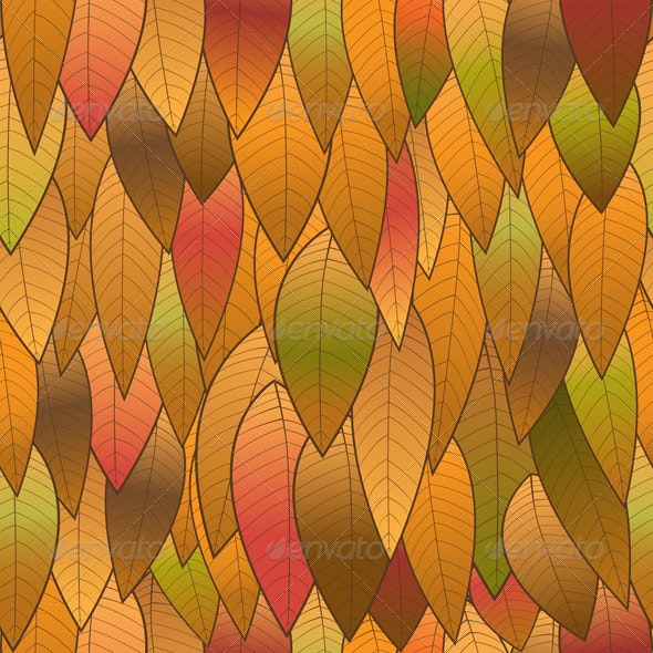 Autumn Background from Leaves, Seamless Structure - Backgrounds Decorative