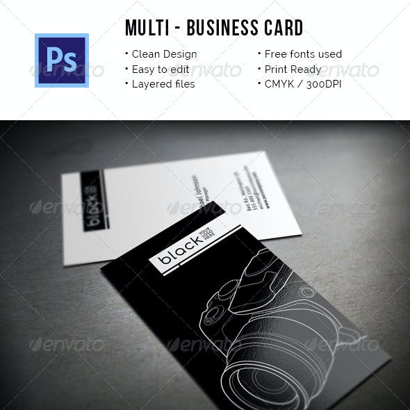 Multipurpose Clean Business Card