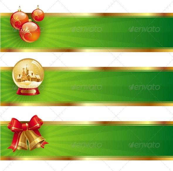Christmas Banners With Holidays Symbols - Christmas Seasons/Holidays