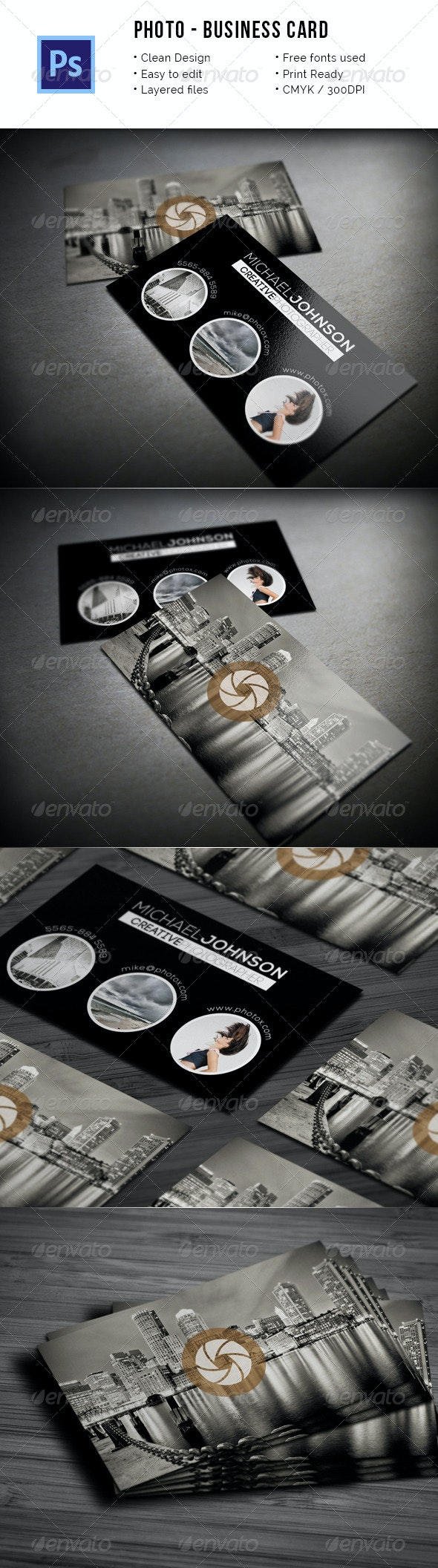 Photo - Creative Photographer Business Card - Industry Specific Business Cards