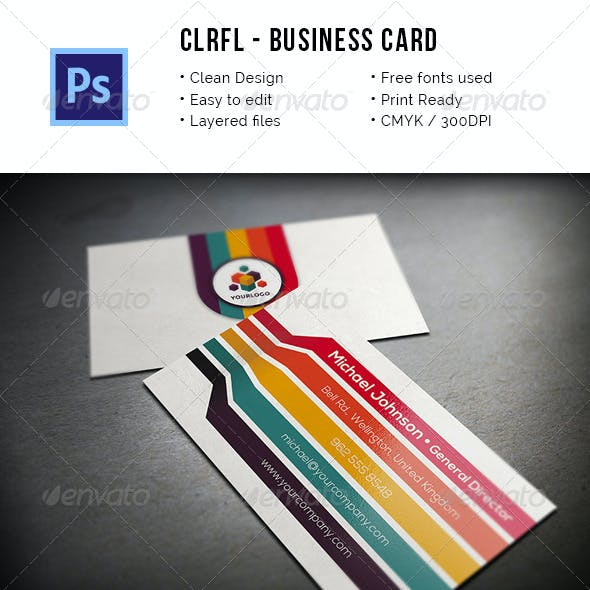 Clrfl - Colorful Business Card