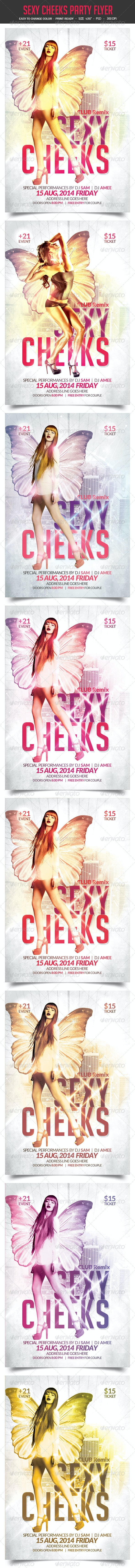 Sexy Cheeks Party Flyer Vol.2 - Clubs & Parties Events
