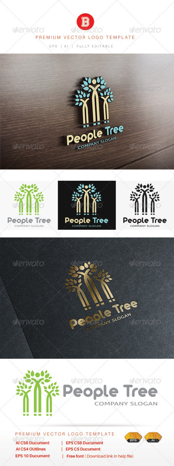 People Tree - Nature Logo Templates