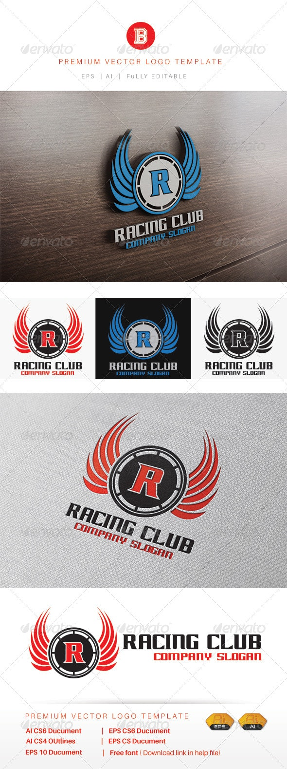 Racing Club - Objects Logo Templates