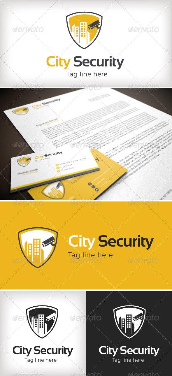 City Security Logo Template - Buildings Logo Templates