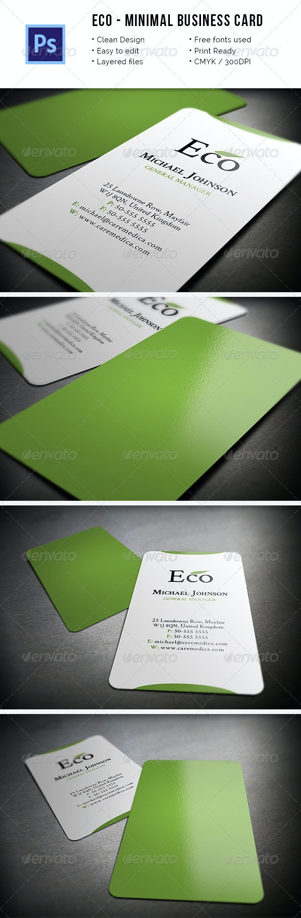 Eco - Minimal Business Card - Industry Specific Business Cards