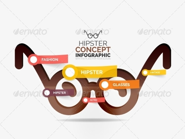 Hipster Glasses Infographic Concept - Web Technology