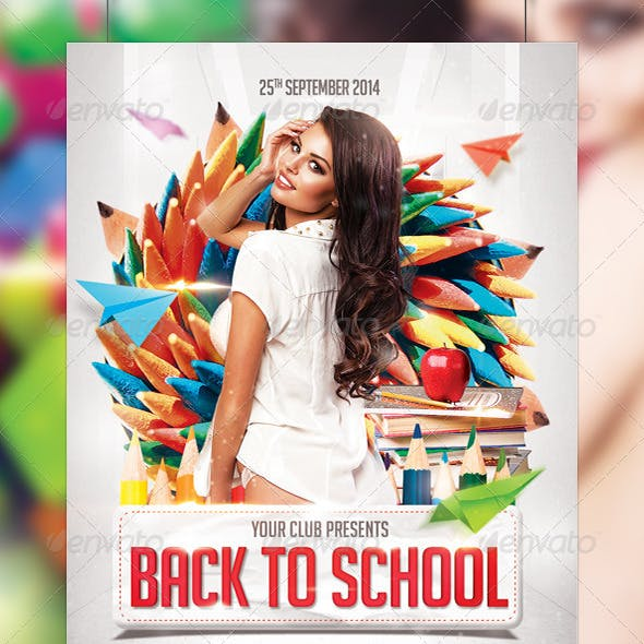 Back to School Party Flyer Template