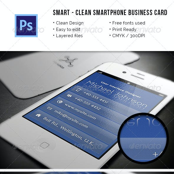 Smart - Clean Smartphone Business Card