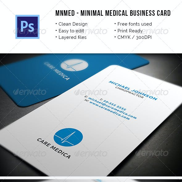 MnMed - Minimal Medical Business Card