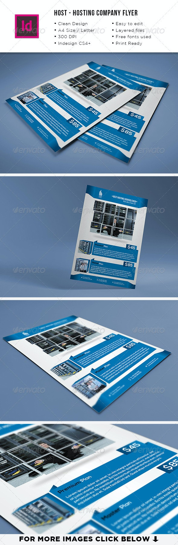 Host - Hosting Company A4 & Letter Flyer - Commerce Flyers