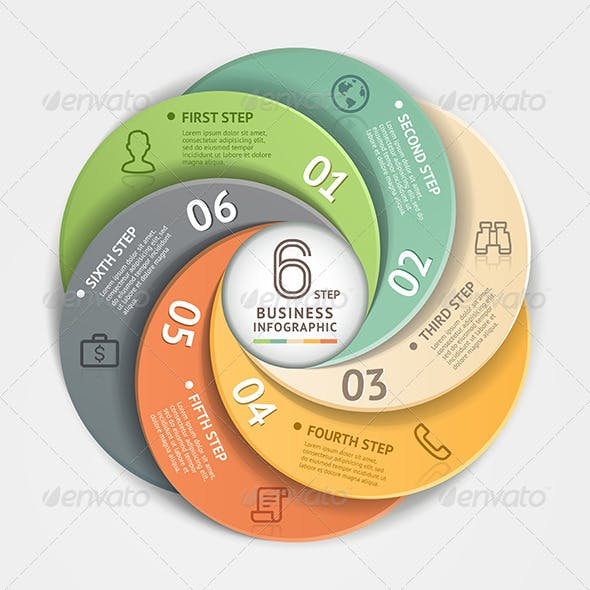 Modern Infographic Circle Origami Style