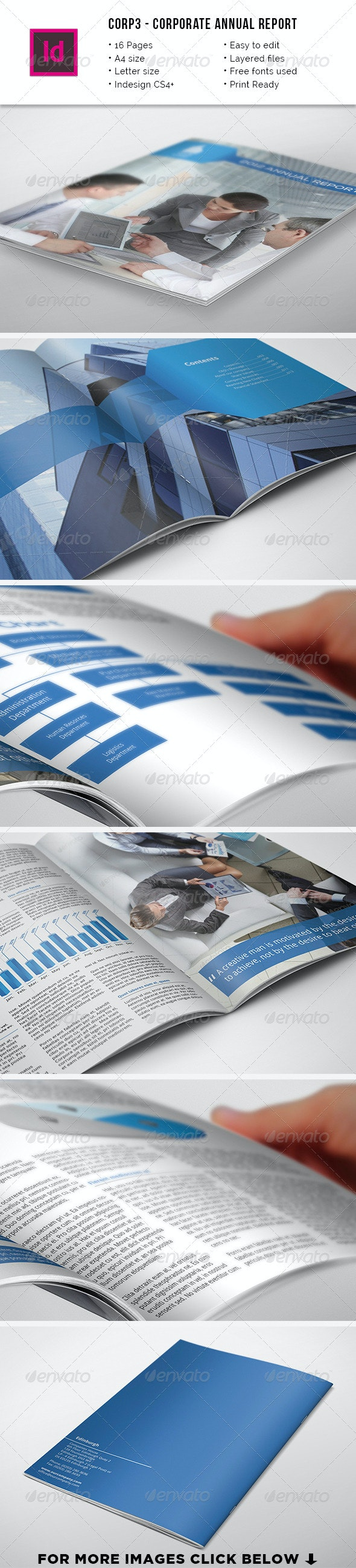 Corp3 - Corporate A4 & Letter Annual Report - Informational Brochures