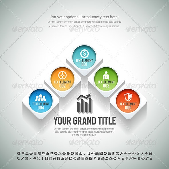 Arrow Shape Infographic - Infographics