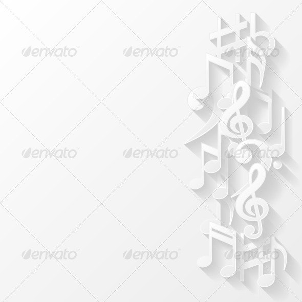 Abstract Background with Musical Notes - Backgrounds Decorative