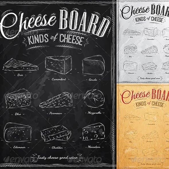 Poster Set of Cheese