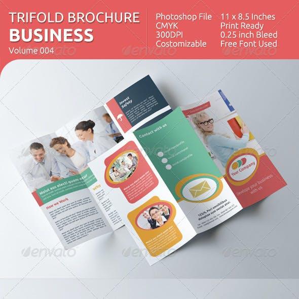 Business Tri-fold Brochure - v004