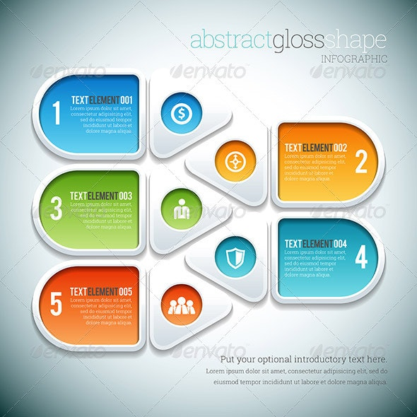 Abstract Gloss Shape Infographic - Infographics