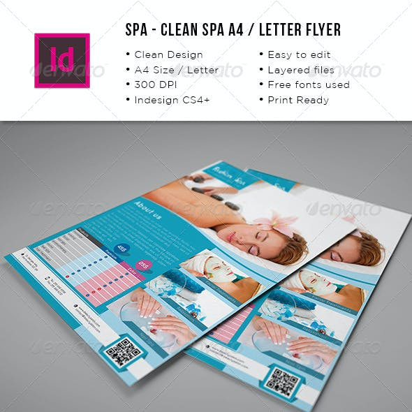 Spa A4 Letter Flyer
