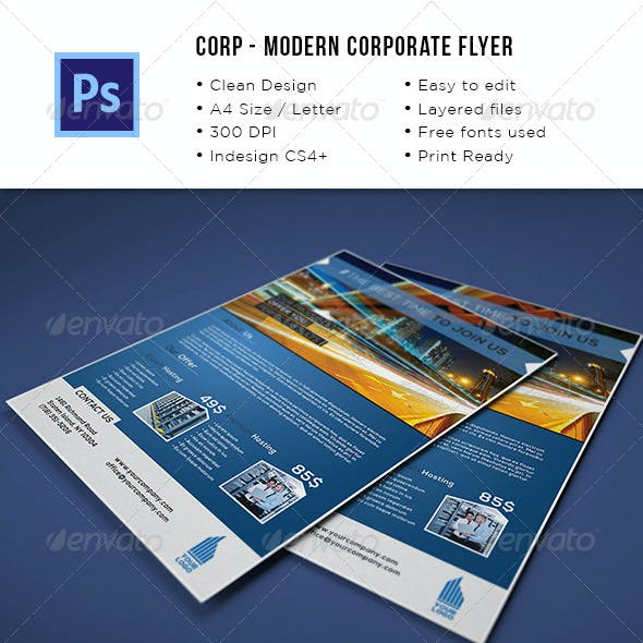 Modern Corporate A4/Letter Flyer