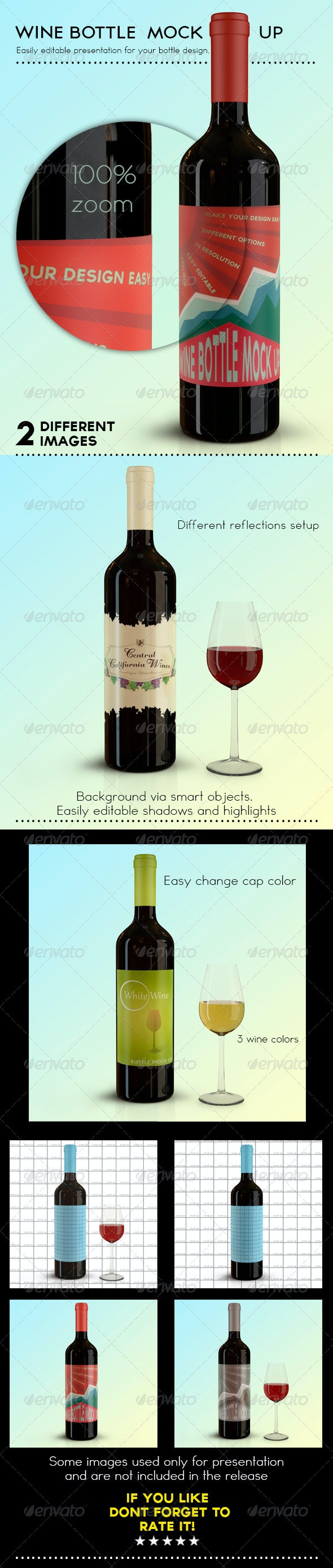 Wine Bottle Mock Up - Food and Drink Packaging