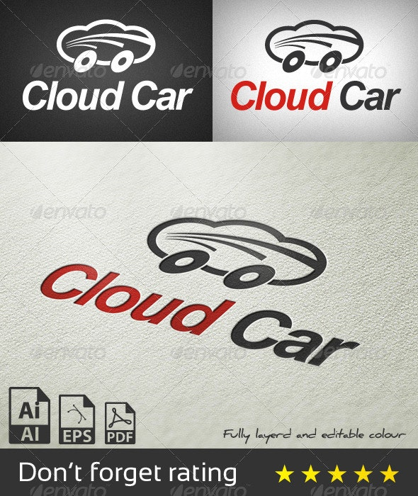 Cloud Car Logo Template - Objects Logo Templates