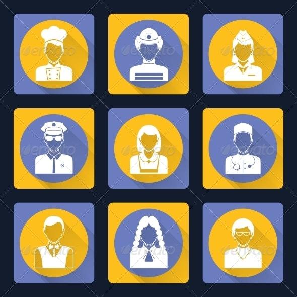 Avatar Icons Set - Web Technology