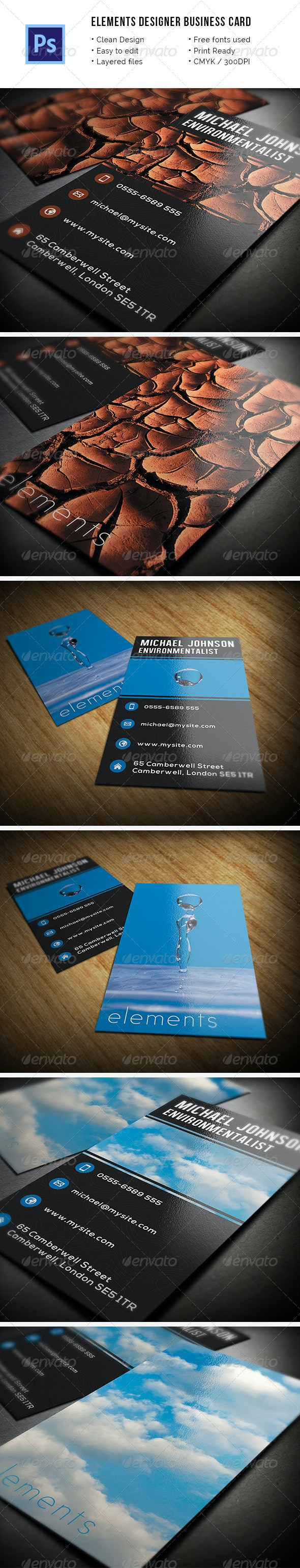 Elements Business Card - Creative Business Cards