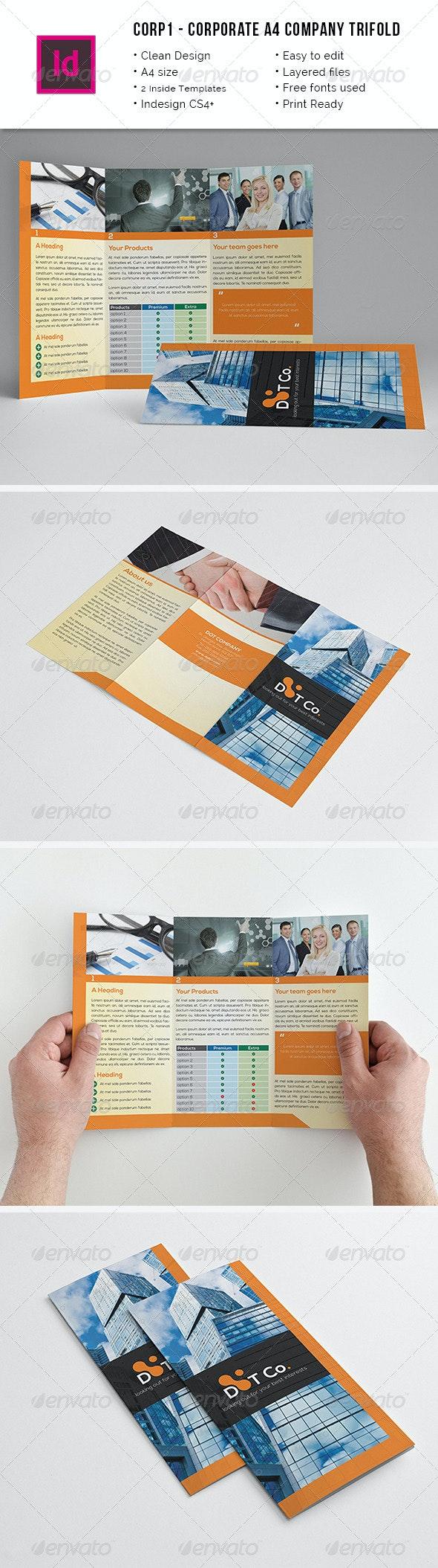 Corporate Trifold A4 Brochure - Corporate Brochures