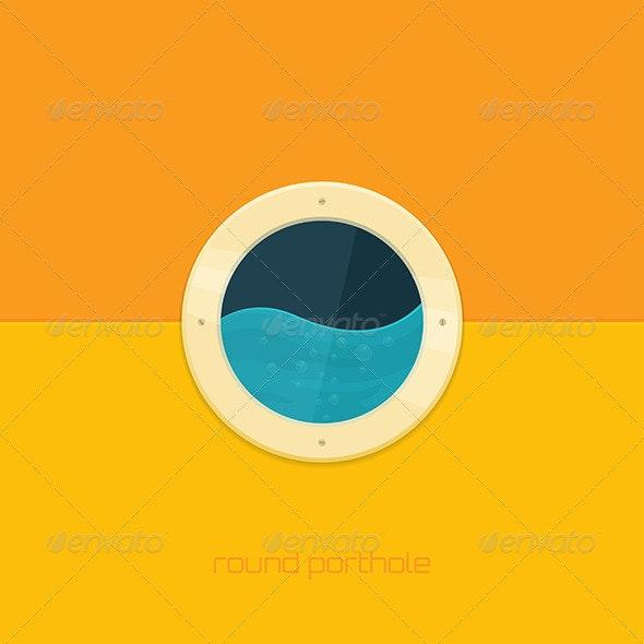 Round Porthole - Objects Vectors