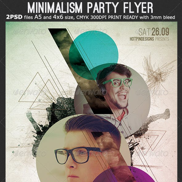 Minimalism Party Flyer Template 4