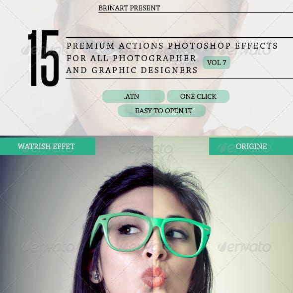 15 Premium Actions Photoshop Effetcs V7