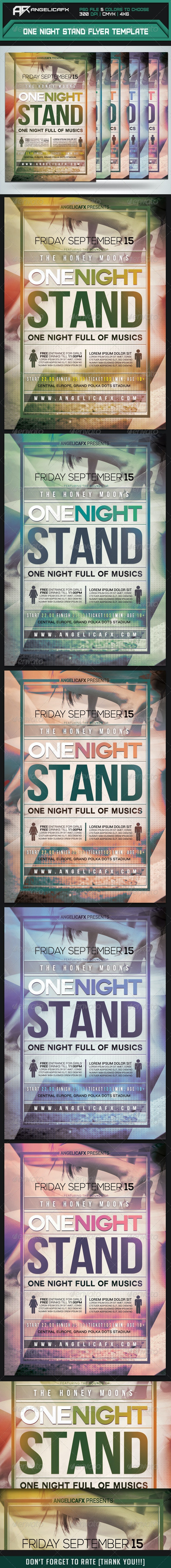 One Night Stand Flyer Template - Flyers Print Templates