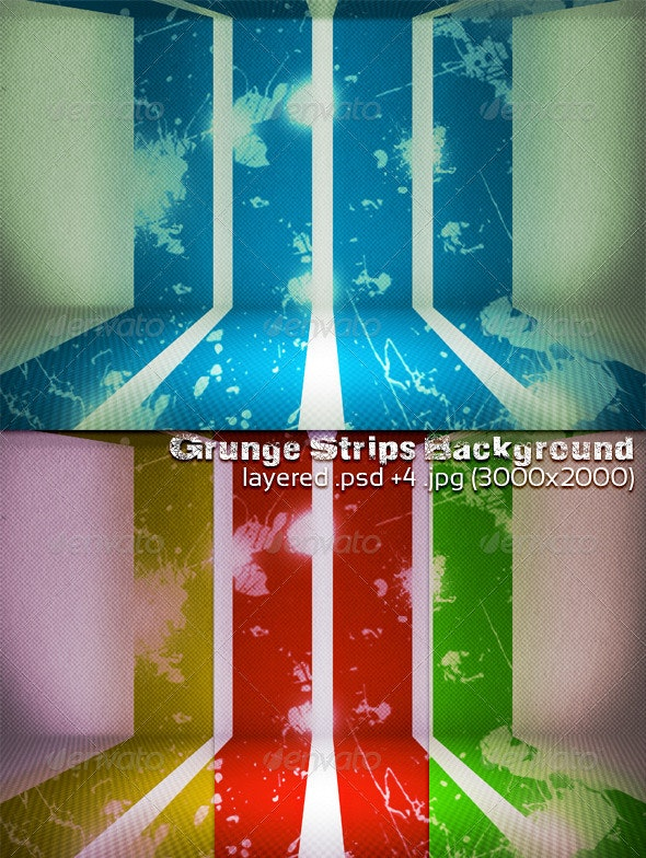 Grunge Strips Background - 3D Backgrounds
