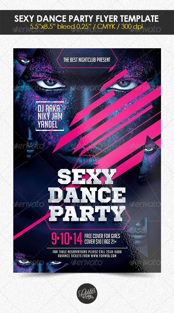 Sexy Dande Party Flyer Template - Clubs & Parties Events