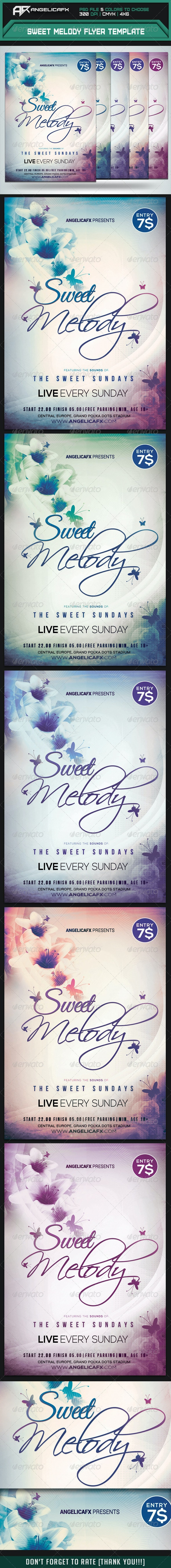 Sweet Melody Flyer Template - Flyers Print Templates