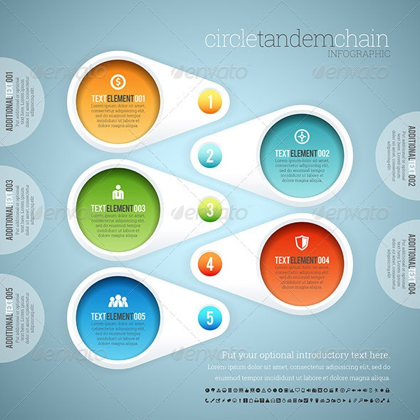 Circle Tandem Chain Infographic - Infographics
