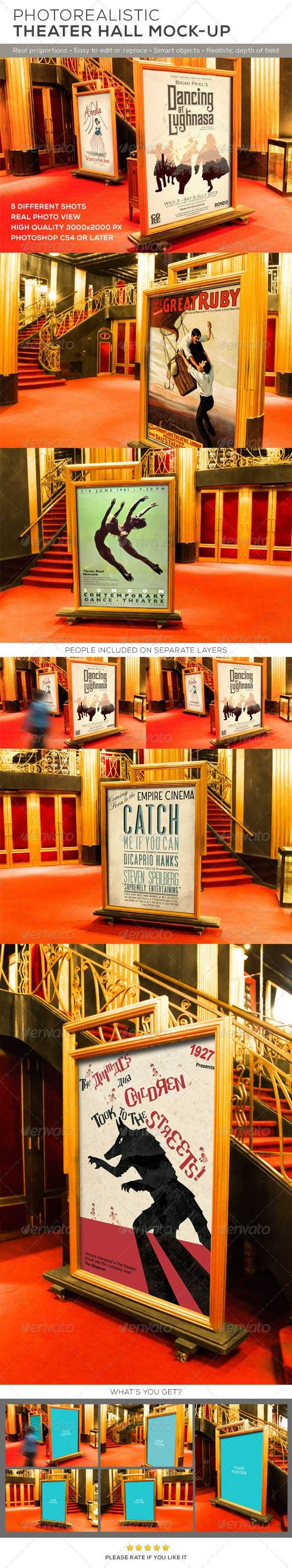 Theater Hall Poster Mock-up - Posters Print