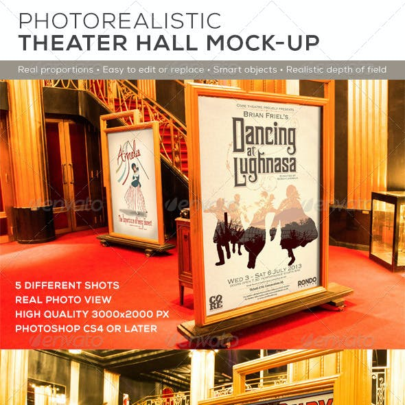 Theater Hall Poster Mock-up