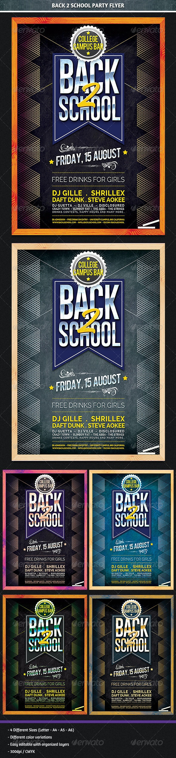 Back 2 School Party Flyer - Clubs & Parties Events