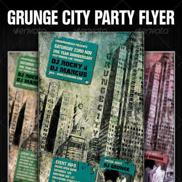 Grunge City Party Flyer