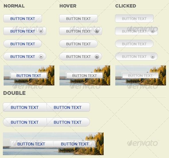 Fresh Web Buttons Pack - Buttons Web Elements